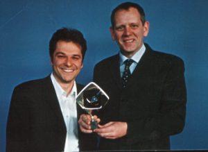 Autor Martin Buchholz und Cutter Heiko Wöhler